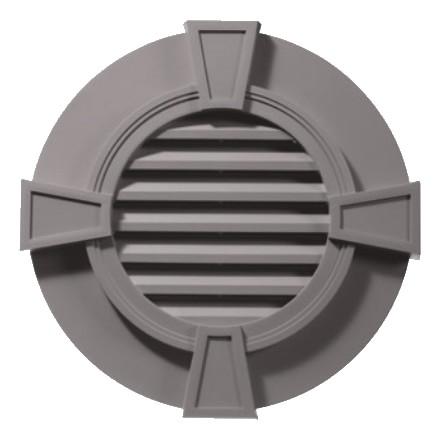 Дизайнерская, круглая с замковыми камнями